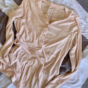 NWOT Aerie Ribbed Henley Shirt